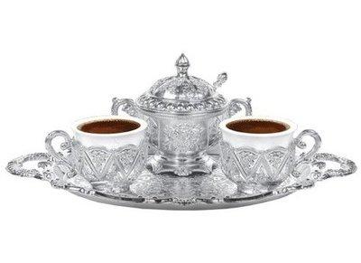 Hürrem Kahve Takimi Güllü 2 Kisilik 01